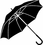 Muursticker paraplu - Muurstickers