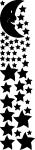 Muurstickers sterren en maan - Muurstickers