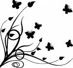 Muursticker tak met vlinders - Muurstickers