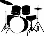 Muursticker drumstel - Muurstickers