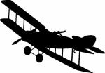 Muursticker Vliegtuig 1 - Muurstickers