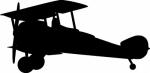 Muursticker Vliegtuig 2 - Muurstickers