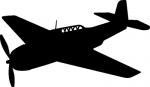 Muursticker vliegtuig propeller - Muurstickers