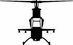Muursticker helikopter B - Muurstickers
