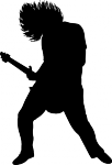 Muursticker Gitarist B - Muurstickers