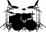 Muursticker drumstel B - Muurstickers