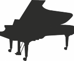 Muursticker piano - Muurstickers