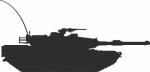 Muursticker tank A - Muurstickers