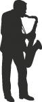 Muursticker saxofonist - Muurstickers