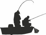Muursticker vissers - Muurstickers