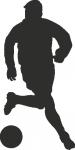 Wandsticker voetballer C - Muurstickers