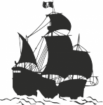 Muursticker piratenschip - Muurstickers