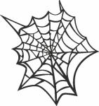 Muursticker spinnenweb - Muurstickers