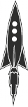 Muursticker raket - Muurstickers