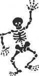 Muursticker skelet - Muurstickers