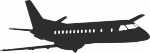 Muursticker Vliegtuig 6 - Muurstickers