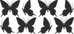 Muursticker vlinder E - Muurstickers
