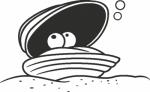 Muursticker schelp - Muurstickers