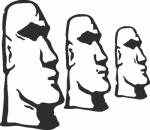 Muursticker stoneheads - Muurstickers