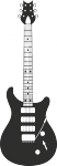 Muursticker gitaar - Muurstickers