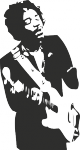 Muursticker Jimi Hendrix - Muurstickers