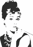 Muursticker Audrey Hepburn - Muurstickers