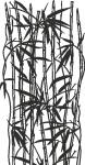 Muursticker bamboe - Muurstickers