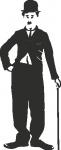 Muursticker Charlie Chaplin - Muurstickers