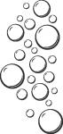 Muursticker luchtbellen - Muurstickers