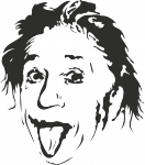 Muursticker Albert Einstein - Muurstickers