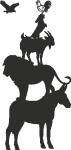 Muursticker dieren - Muurstickers