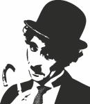 Muursticker Charlie Chaplin B - Muurstickers