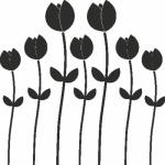 Muursticker bloemetjes Y - Muurstickers