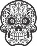Muursticker doodskop versiering - Muurstickers