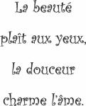 Tekststicker Beauté - Tekst stickers