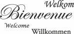 Tekststicker Bienvenue - Tekst stickers
