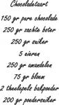 Tekststicker Chocoladetaart - Muurstickers