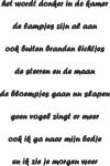 Tekststicker Donker - Tekst stickers