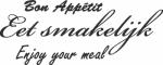 Tekststicker Eet smakelijk - Muurstickers