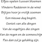 Tekststicker Elfjes - Muurstickers