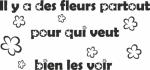 Tekststicker Fleurs - Tekst stickers