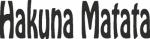 Tekststicker Hakuna - Muurstickers