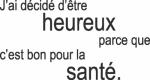 Tekststicker Heureux - Tekst stickers