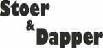 Tekststicker Stoer dapper - Muurstickers