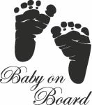 Muursticker baby voetjes - Muurstickers