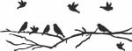 Muursticker vogeltjes op een tak - Muurstickers