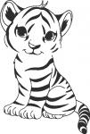 Muursticker baby tijger - Muurstickers