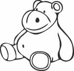 Muursticker teddy - Muurstickers