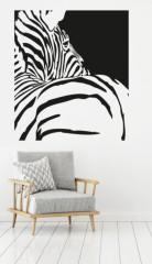 woonkamer - zebra - Muurstickers