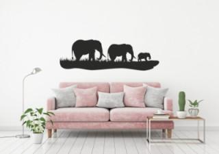 Woonkamer - olifantjes - Muurstickers